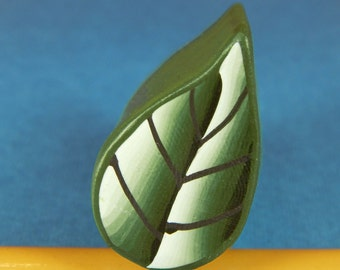 Leaf Polymer Clay Cane - Raw/ Unbaked (40-16) - For covering pens, eggs, bowls, jewelry and more!