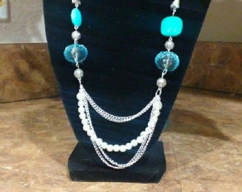 Blue Ice Necklace