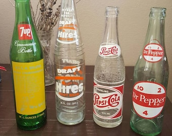 Vintage Soda Bottles dating from the 1940's-1970's. Home and Living, Kitchen Decor