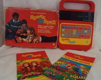 Vintage Speak and Spell made by Texas Instruments 1984 Working Original Box
