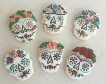 Dia de los Muertos Day of the Dead Sugar Skull Cookies