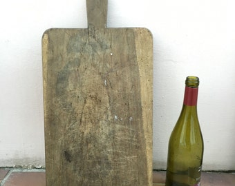 ANTIQUE VINTAGE FRENCH bread or chopping cutting board wood 255