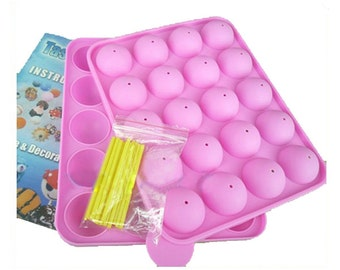 Silicone mold for 20 Cake Pops & pacifier 3D