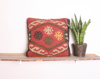 Bohemian Scorpion Kilim Cushion Pillow Handwoven Using Traditional Designs