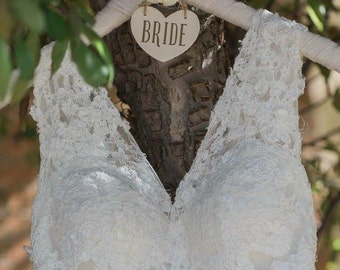 Rustic Bridal Gown Hanger