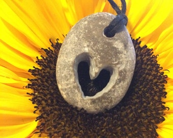 Handcarved Stone Heart Pendant