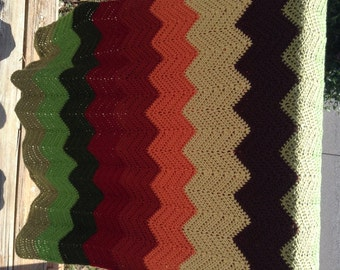 Fall Colors Ripple Afghan