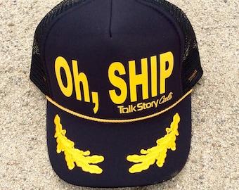 Oh,Ship Captain Trucker Hat