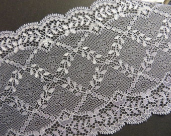 2m white elastic lace 14.5 cm wide