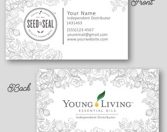 young living business card essential oil by CustomOilyDesigns