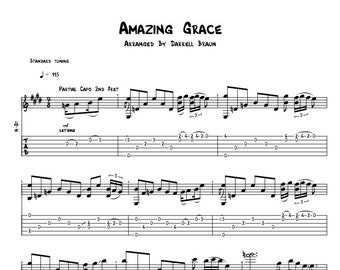 Amazing Grace - Celtic Acoustic Guitar Sheet Music