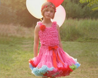 Pink + Multi Girls & Baby Tutu Pettiskirt