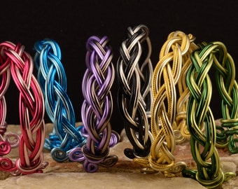 Fancy multicolored braided bracelets