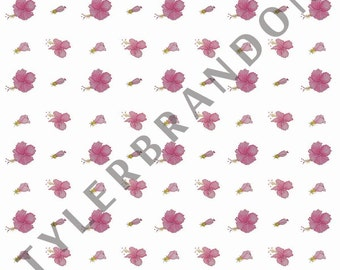 """Hibiscus print 10 x 10"""""""