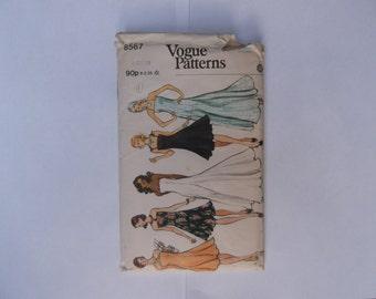 Vogue 8567 pattern misse's evening dress size 10 complete unused