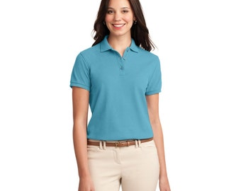 SALE !!  SALE !! Ladies Soft Touch Polo Shirt with custom Embroidery :)  every color !!!