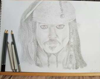 Captain Jack Sparrow drawing print.