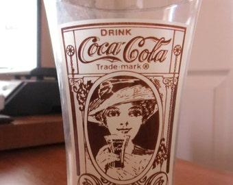 Vintage Recreation of the Original Flair Coca Cola Glass