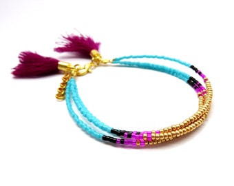 Everyday bead minimalistic bracelet, minimalist bracelet, layering bracelet, boho bracelet, turquoise bracelet, dainty delicate bracelet