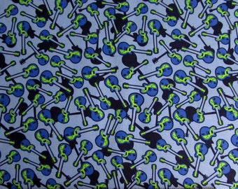 Blue Guitars Fabric