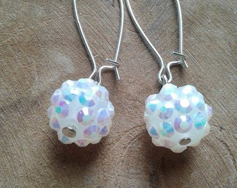 shiny beads earring