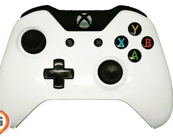 Lunar White (Midnight) Full Body Kit Custom Xbox One Controller with Customisable D-Pad