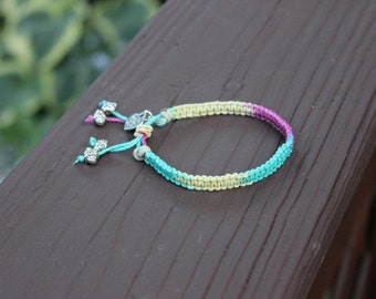 "Adjustable ""Bingo"" Tie-Dye Hemp Bracelet"