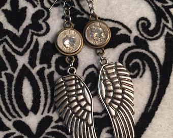 Bullet Earrings - Bullets and wings- Earrings