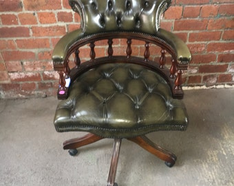 Chesterfield Leather Captains Office Chair