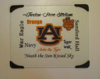 Auburn Glass Cutting Board