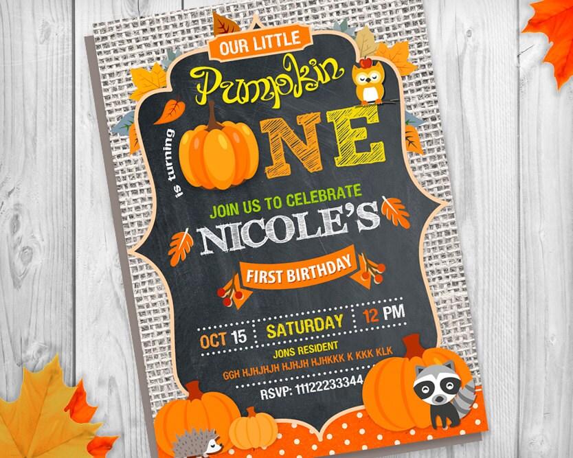 Pumpkin invitation our little pumpkin invitation pumpkin first pumpkin invitation our little pumpkin invitation pumpkin first birthday invitation pumpkin party filmwisefo