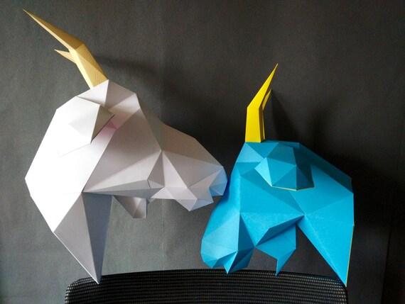Ziege diy kit/papercraft ziege/3d vorlage/ziege von yumegamishop