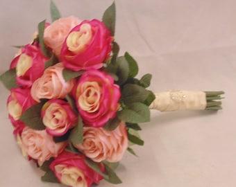 Silk Rose Hand Tied bouquet