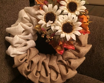 Seasonal Burlap Wreath