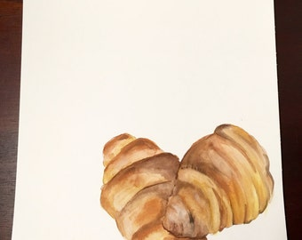 Croissants Watercolor