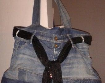 Jean bag hand made