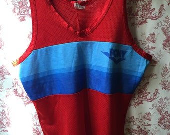 Top tank Pony Red & Blue