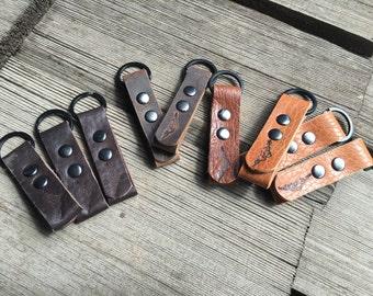 Bison Leather keychain