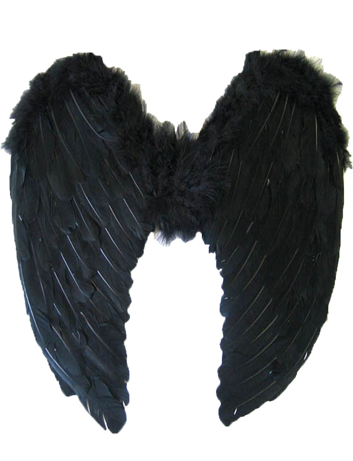Halloween Large Black Feather Wing Deluxe Real Feathers