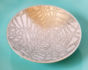 Etched Pewter Bowl