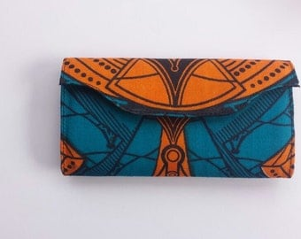 Blue and Orange Clutch