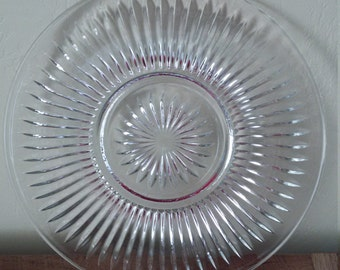 Antique Glass Serving Plate
