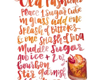 Handlettered Old Fashioned Recipe