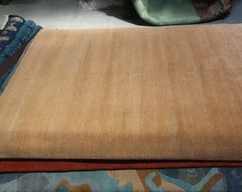 Camel - Handwoven naturally dyed camel brown wool rug