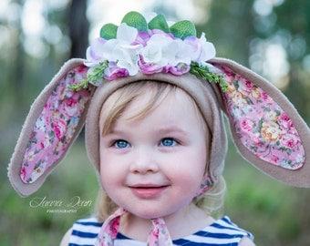 Floral Bunny Bonnet