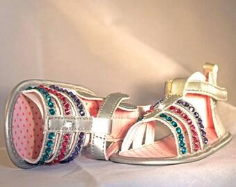 Swarvoski Crystal Silver Baby Sandals