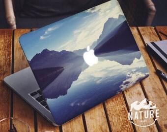 Lake in Montana MacBook Decal Blue Wilderness scenery Vinyl Laptop Skin - NI027