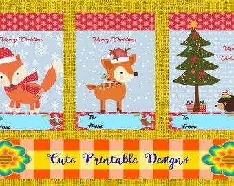 Printable Gift Cards,Christmas Cards,  Cute Cards,  , CARD-POPPNAVI-18