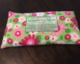 Free Shipping! Rice filled soothing eye pillow