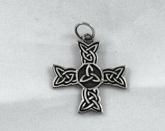 Celtic cross with triskele